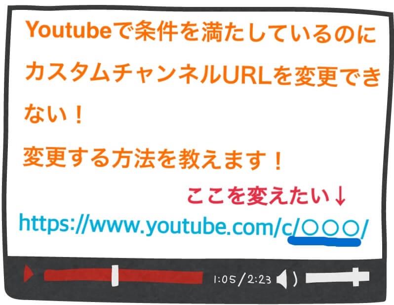 youtubeのカスタムチャンネルURLを条件を満たしているのに変更できないを変更する方法をご紹介!